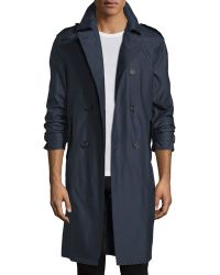 Burberry Prorsum - Wool-blend Double-breasted Trenchcoat - Lyst
