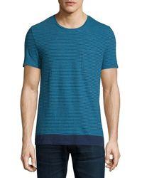 Burberry Brit - Seersucker-pinstripe Short-sleeve T-shirt - Lyst