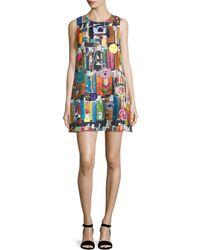 Libertine - Book-print Cashmere Shift Dress - Lyst