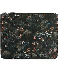 Givenchy - Monkey Brothers Faux-leather Pouch - Lyst