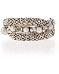 R.j. Graziano - Silvertone Stretch Bracelet Set - Lyst