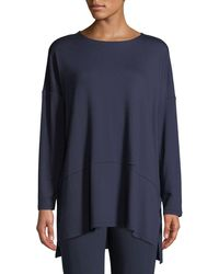 Eileen Fisher - Petite Oversized Terry Cloth Layered Tunic - Lyst