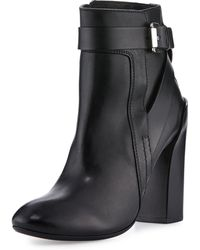 CoSTUME NATIONAL - Strappy Leather Ankle Boot - Lyst