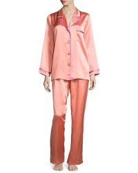 Christine - Coco Silk Pajama Set - Lyst