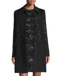 Elie Saab - Embellished Button-front Long Coat - Lyst