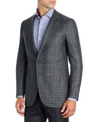 Isaia - Multi-check Wool-cashmere Two-button Sport Coat - Lyst