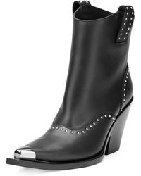 boots givenchy glasses f7bo  Givenchy  Studded Leather Western Boot  Lyst