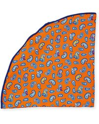 Edward Armah - Paisley-print Silk Pocket Circle - Lyst