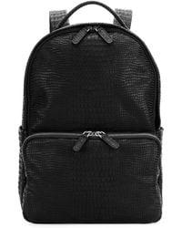 Giorgio Armani - Crocodile-embossed Leather Backpack - Lyst