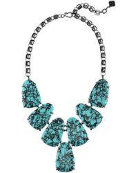 Kendra Scott - Harlow Teal Magnesite Statement Necklace - Lyst