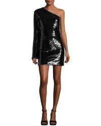 RTA - Edie One-shoulder Sequined Cocktail Dress - Lyst