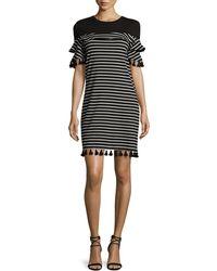 N Nicholas - Tassel-trim Striped Knit Dress - Lyst