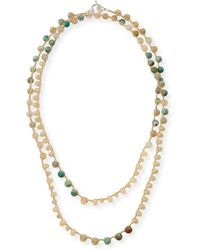 An Old Soul - Amazonite & Striped Turquoise Agate Crocheted Necklace - Lyst