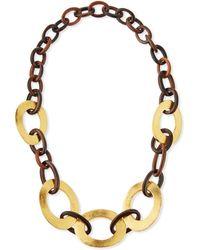 Viktoria Hayman - Tiger Wood Statement Chain Necklace - Lyst