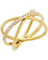 Michael Kors - Orbital Pavé Crystal Ring - Lyst