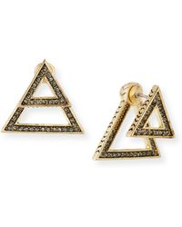 House of Harlow 1960 - Double-triangle Crystal Jacket Earrings - Lyst