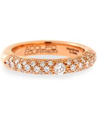 Adolfo Courrier - 18k Rose Gold Ring With White & Champagne Diamonds - Lyst