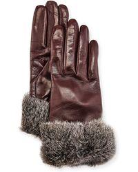 Gala - Leather Fur-trim Gloves - Lyst