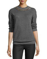 Hemant & Nandita - Embellished Crewneck Sweatshirt - Lyst
