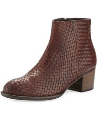 Andre Assous - Kaycee Woven Leather Bootie - Lyst