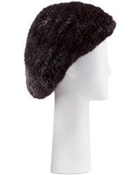 Belle Fare - Structured Mink Fur Beret Hat - Lyst