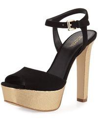 MICHAEL Michael Kors - Trish Suede Platform Sandal - Lyst