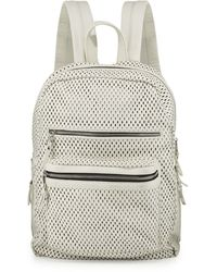 Ash - Danica Large Perforated Leather Backpack - Lyst