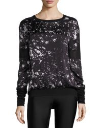Blanc and Noir - On Tour Printed Mesh-panel Sweatshirt - Lyst