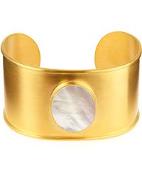 Dina Mackney - 18k Gold-plated Mother-of-pearl Cuff Bracelet - Lyst