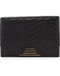 Time's Arrow - Hutton Woven Leather Clutch Bag - Lyst
