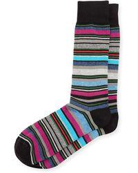 Neiman Marcus - Multicolor Variegated-stripe Socks - Lyst
