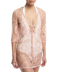 Queen & Pawn - Venus Sheer Lace Coverup Tunic - Lyst