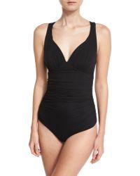 La Petite Robe Di Chiara Boni - Gea Illusion One-piece Swimsuit - Lyst