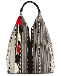 Ále By Alessandra - Zuri Embroidered Large Beach Tote Bag - Lyst