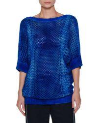 Agnona - Tie-dye Half-sleeve Cashmere Tunic - Lyst