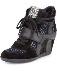 Ash - Bowie Sequined Hidden-wedge Sneaker - Lyst