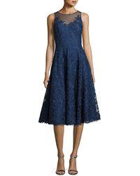 Liancarlo - Floral Lace Illusion Cocktail Dress - Lyst