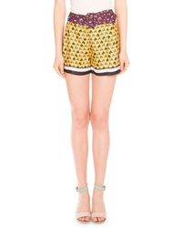Mary Katrantzou - Koray Horse Tie Printed Shorts - Lyst