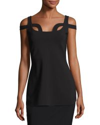 La Petite Robe Di Chiara Boni - Ilvie Cutout Stretch Jersey Top - Lyst