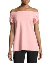 La Petite Robe Di Chiara Boni - Maisie Off-the-shoulder Fluid Jersey Top - Lyst