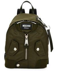 Moschino - Biker Fabric Zip Backpack - Lyst
