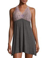 Fleur't - Lace-back Tank Lounge Dress/chemise - Lyst