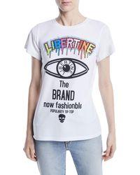 Libertine - Brand Now Fashionable Photo Graphic-print Crewneck Tee - Lyst