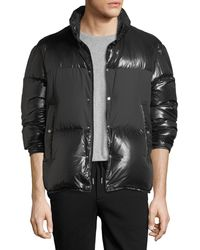 Moncler   Aynard Shiny Puffer Jacket W/ Matte Center   Lyst
