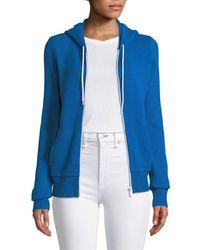 Michael Kors - Zip-front Cashmere/cotton Hoodie Jacket - Lyst