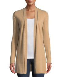 Neiman Marcus - Chain-trim Cashmere Duster Cardigan - Lyst