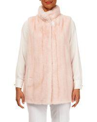 Gorski - Reversible Mink-fur Silk Taffeta Vest - Lyst