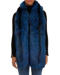 Gorski - Silver Fox Fur Boa - Lyst