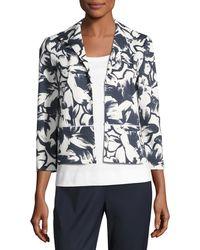 Lafayette 148 New York - Bellene Floral-print Zip Jacket - Lyst