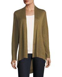 Eileen Fisher - Sleek Knit Open-front Cardigan - Lyst